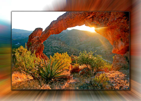 Superstition   Arch 3 D Photography Art | Whispering Impressions