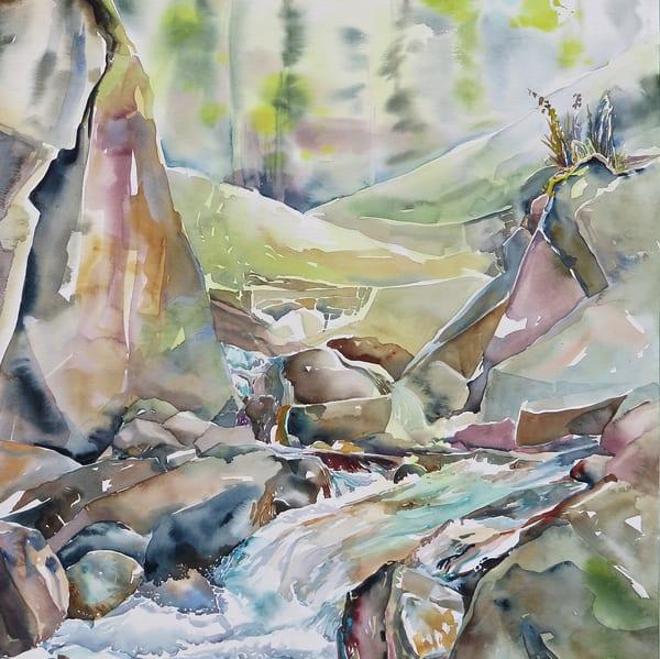 Clairvaux Falls Coaster | Karen Bishop Artist