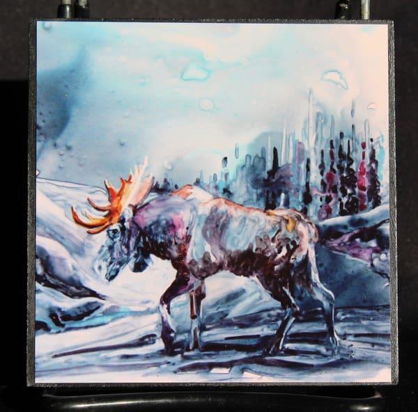 Moose Is Walking | Karen Bishop Artist