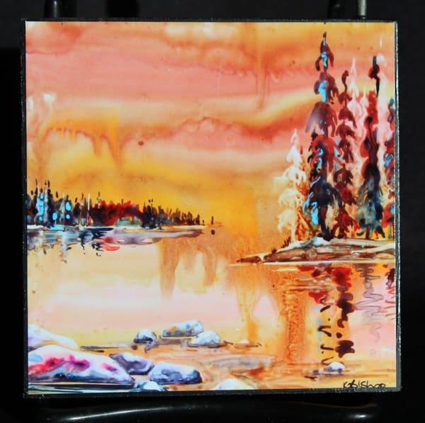 Lake In Sienna | Karen Bishop Artist