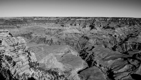 Grand Canyon in Black and White - Art Print