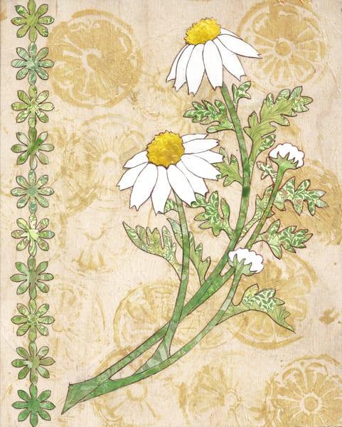 Chamomile Art   Karen Sikie Paper Mosaic Studio