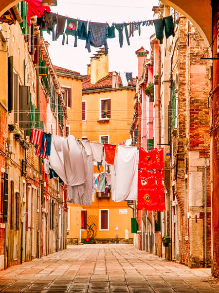 Venice Hanging Laundry | Urban Art Photography Print