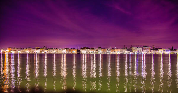 Venice Night Lights | Urban Art Photography Print