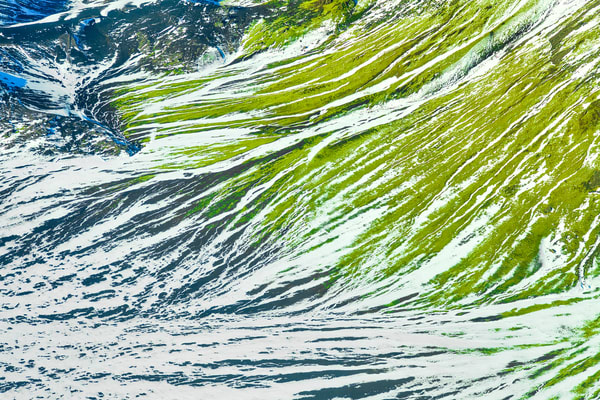 Iceland Green And White | Nature Art Photography