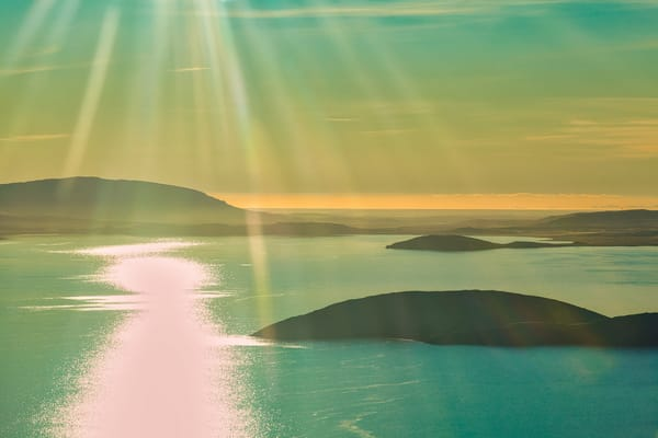 Sunrays Over An Iceland Lake | Nature Art Photography