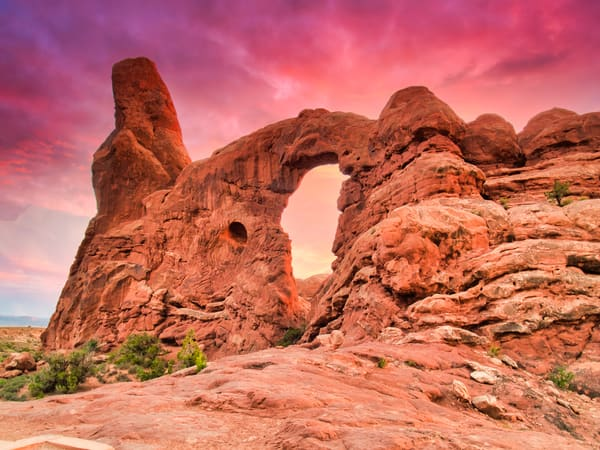 Moab Pink Sunset | Desert Landscape Fine Art Photography