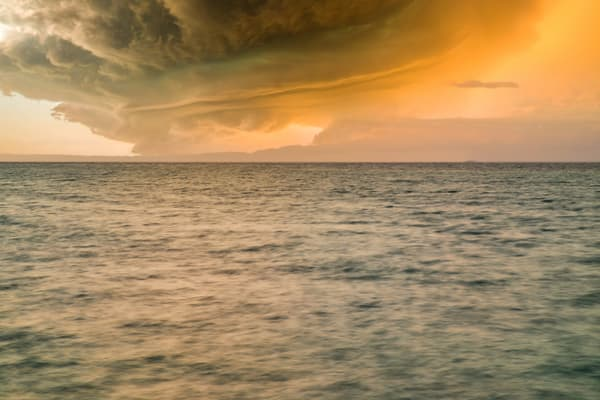 Caribbean Sunset Storm | Tropical Landscape Photography Print