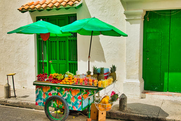 Tropical Fruit Cart | Urban Art Photography Print