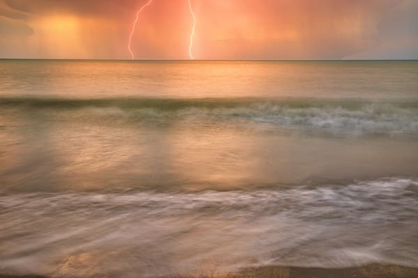 Cartagena Lightning Strike | Tropical Landscape Photography Print