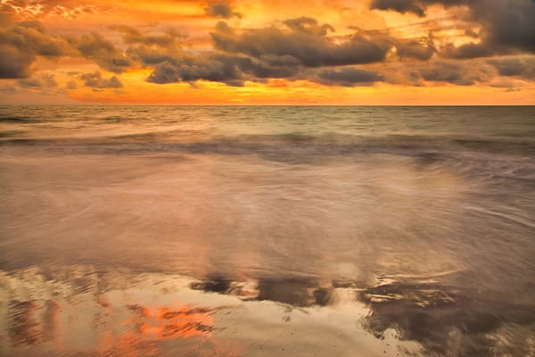Cartagena Sunset Reflection | Tropical Landscape Photography Print