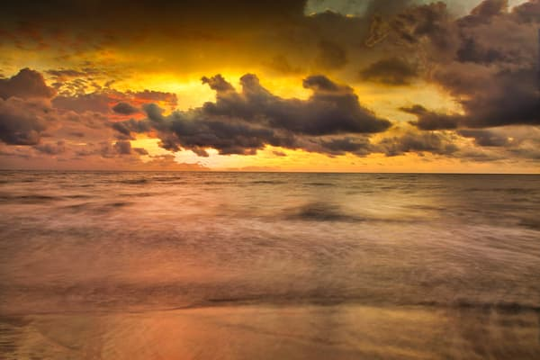 Caribbean Golden Sunset | Sunset Photography Print