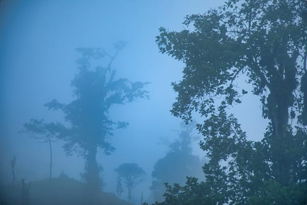 Andes Afternoon Blue Mist | Mountain Landscape Photography Print