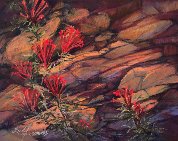 Lindy Cook Severns Art | Blooming Where Planted, original pastel