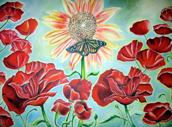 14186808 sunflowerwithpoppies moedhy z3kwgr