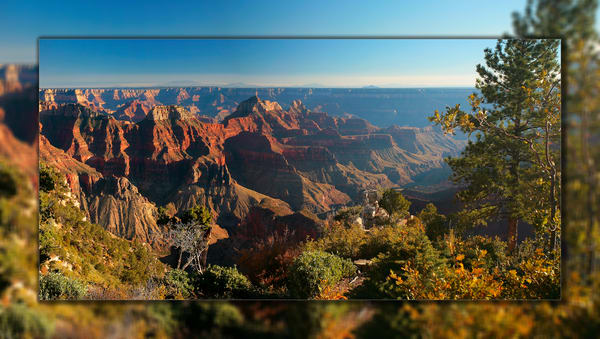 Grand Canyon North Rim 3 D Photography Art | Whispering Impressions