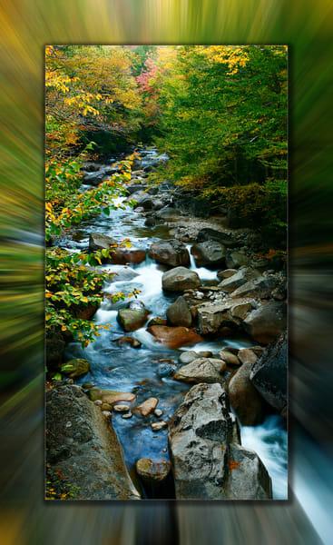 Pemisgewasset Falls Pano 3 D Photography Art | Whispering Impressions