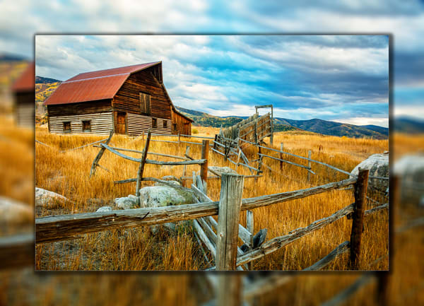 Steamboat Barn 3 D Photography Art | Whispering Impressions