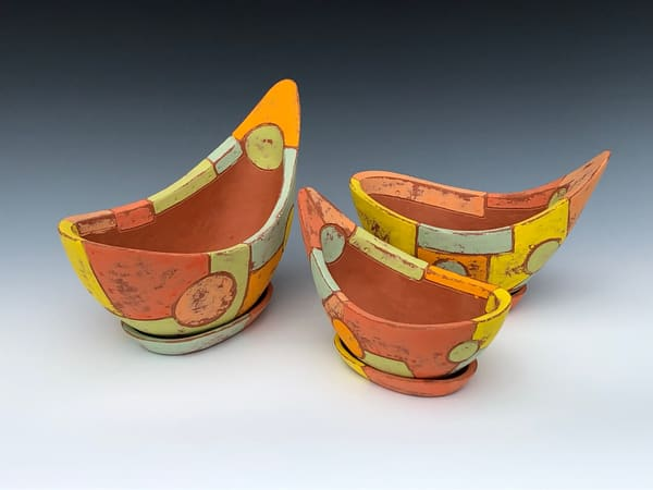 Three Flower Pot Set | Gerard Ferrari LLC