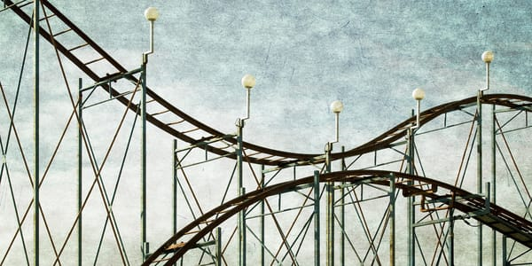 Roller Coaster at a County fair