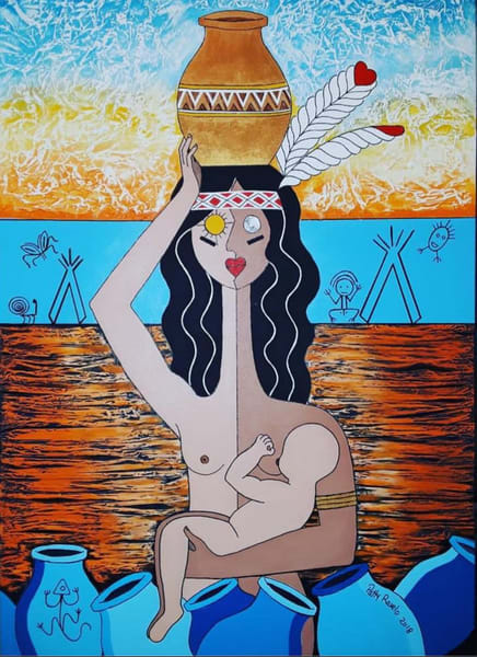 Taino Sunset Art | Ralwins Art Gallery