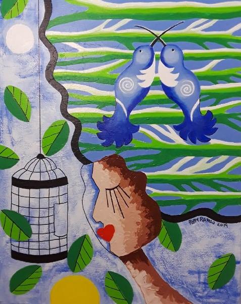 Patty Ravelo El Limite Esta En Tu Mente 16x20 350 Art | Ralwins