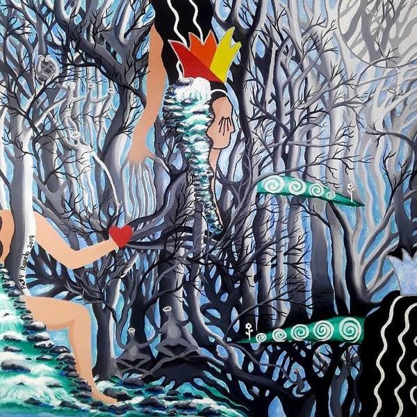 Patty Ravelo Estamos Conectados 20x20 600 Art | Ralwins
