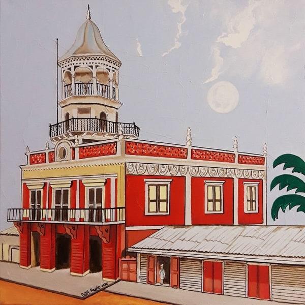 Patty Ravelo Antiguo Cuerpo De Bombero De San Pedro De Macoris 20x20 550 Art | Ralwins Art Gallery