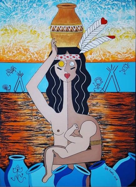 Patty Ravelo Taino Sunset 24x36 500 Art | Ralwins Art Gallery