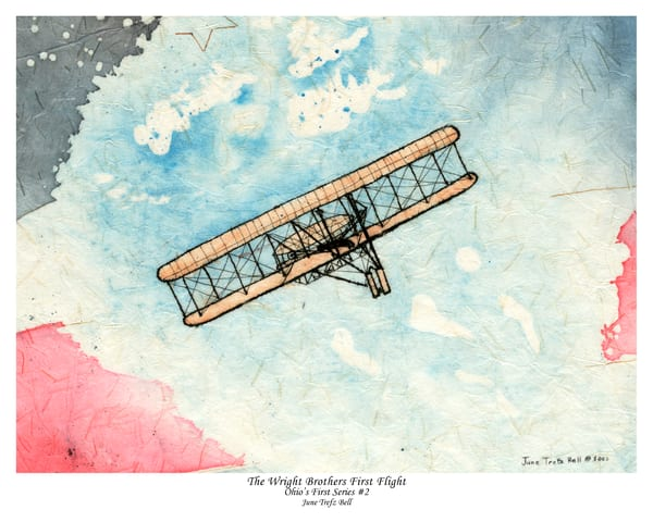 Special Edition - The Wright Brothers First in Flight  |  June Bell Artist