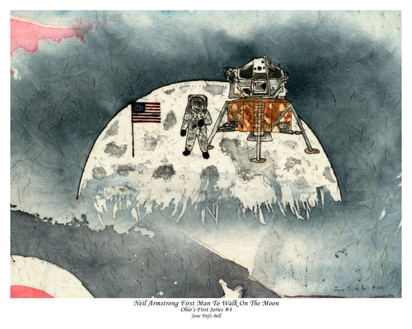 Special Edition - Neil Armstrong First Man to Walk on the Moon  |  June Bell Artist