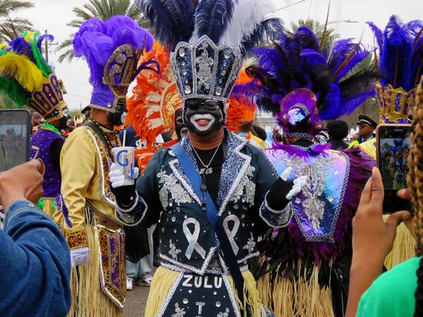 Zulu Warrior  4 Mardi Gras Art | DocSaundersPhotography