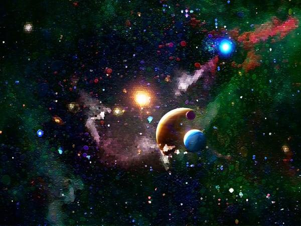 Space Fantasy Art - Sun Watchers - Don White Art Dreamer