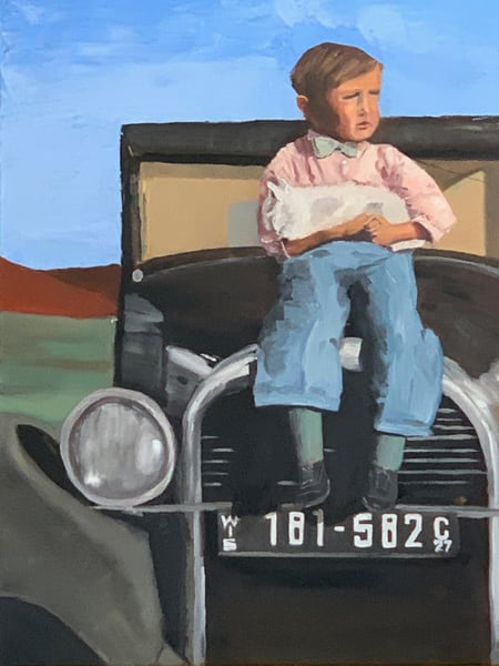 """""""1927 Buick Boy"""" Commission Not For Sale  Art 