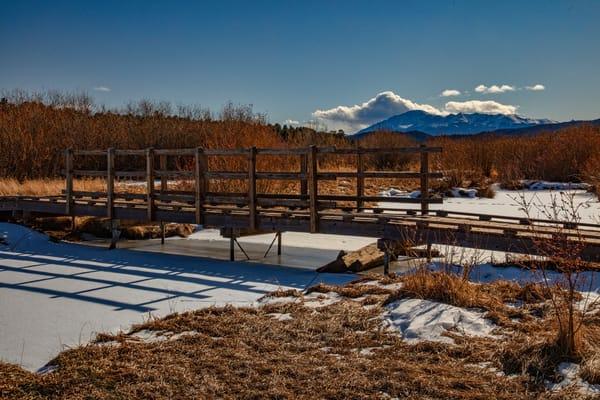 Colorado Walking Bridge Mountains 0381   Photography Art | Koral Martin Healthcare Art
