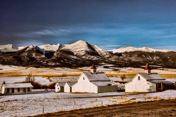 Winter Buildings Mountains 1068   Photography Art | Koral Martin Healthcare Art