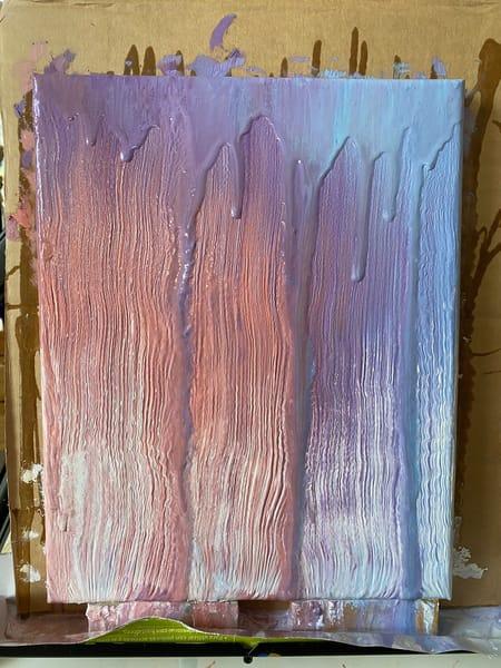 [Sold] Day 30 Wintry Sunset Rain Art | Rachel Brask Studio, LLC