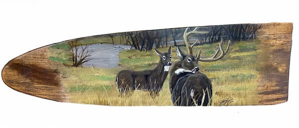 C Graham   Fur Stretcher With Deer | Branson West Art Gallery - Mary Phillip