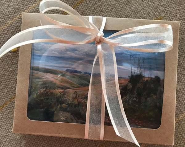 Lindy Cook Severns Art | 8 Gift Boxed Notecards, Far West Texas