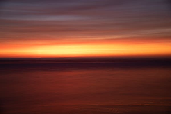 Red Ocean Sunset Photography Art | Michael Scott Adams Photography