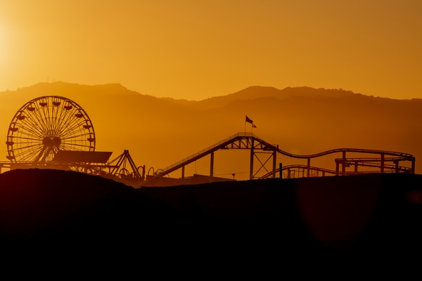 Pacific Park Silhouette Photography Art | Michael Scott Adams Photography