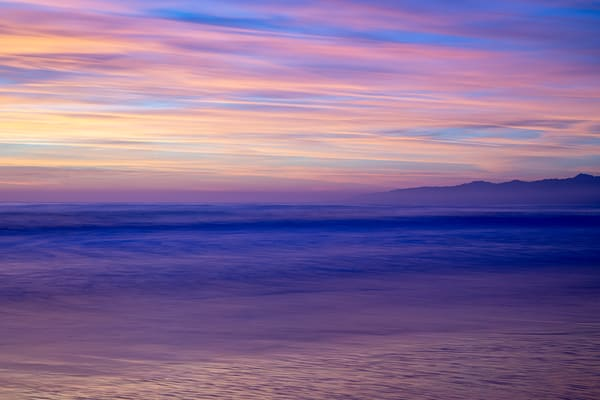 Peach Sky Over Purple Sea Photography Art | Michael Scott Adams Photography
