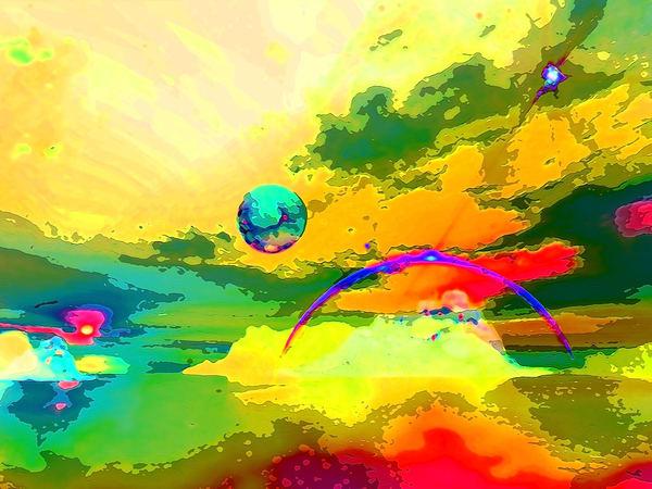 Space Fantasy Art - Strange Planet - Don White Art Dreamer