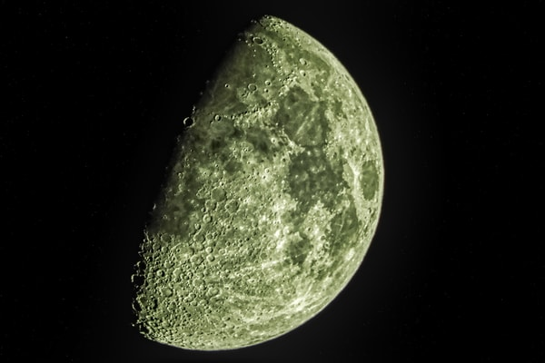 Waxing Gibbous Moon of May 1, 2020 by Keith R Wahl, Made From RI Gallery