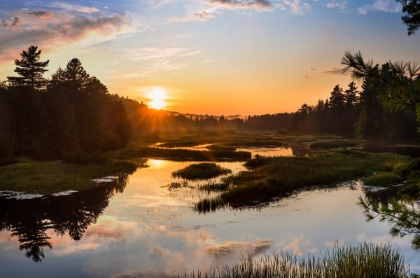 Moose River Sunset 2019 Photography Art | Kurt Gardner Photogarphy