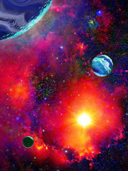 Space Fantasy Art - Heavens Portal - Don White Art Dreamer