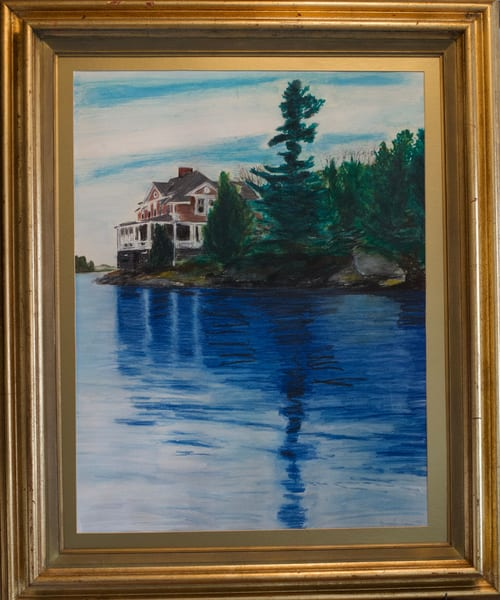 St. Lawrence River Pastel Art