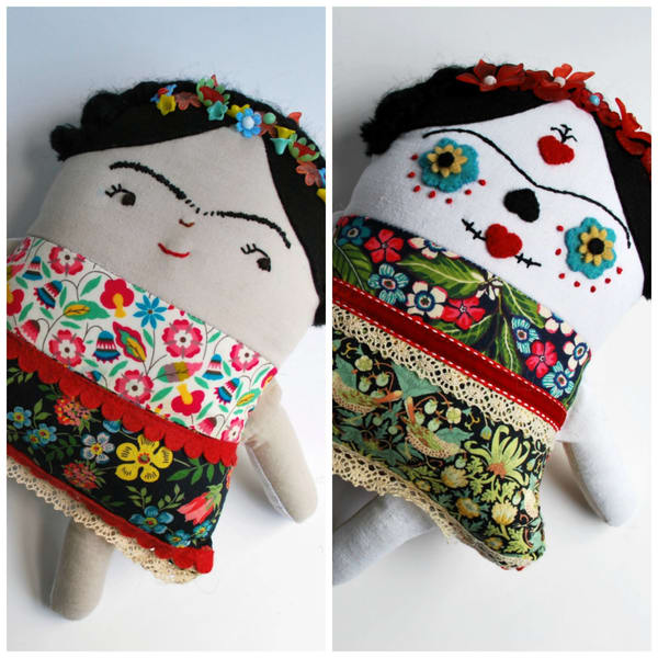 Two Faced Frida Flip Doll, By Beeper Bebe | Made by Kristi