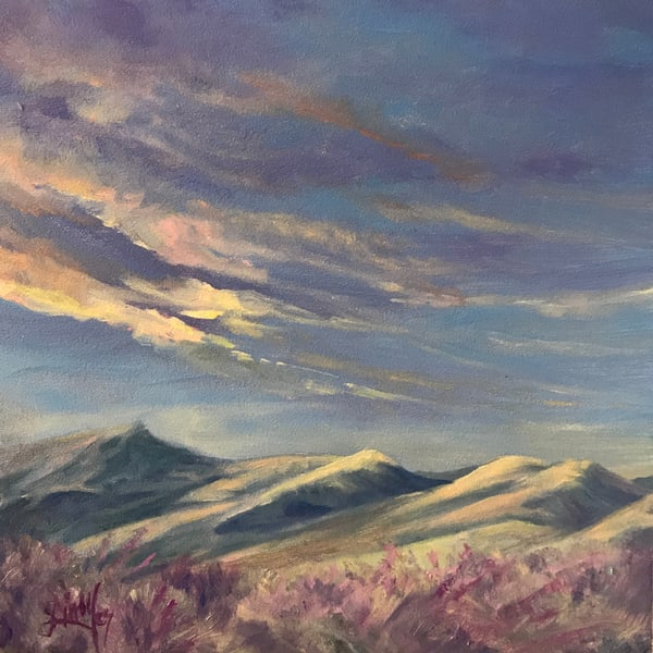 Lindy Cook Severns Art | Songs of Sage at Sunrise, original oil