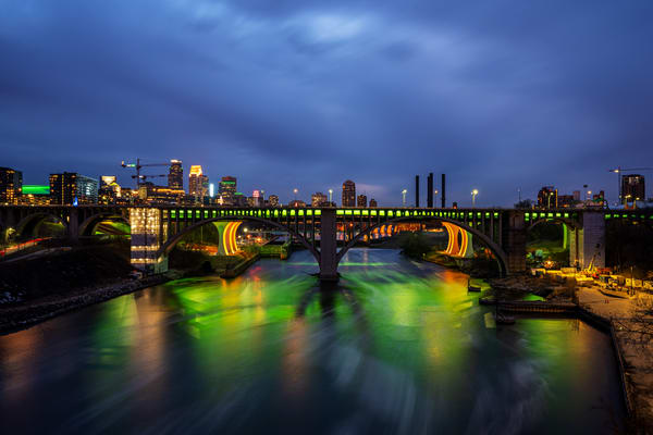A Minneapolis Covid St Paticks Day - Minneapolis Cityscape
